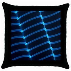 Background Light Glow Blue Throw Pillow Case (black) by Nexatart