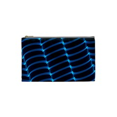 Background Light Glow Blue Cosmetic Bag (small)  by Nexatart