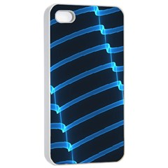 Background Light Glow Blue Apple Iphone 4/4s Seamless Case (white) by Nexatart