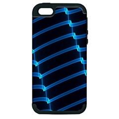 Background Light Glow Blue Apple Iphone 5 Hardshell Case (pc+silicone) by Nexatart