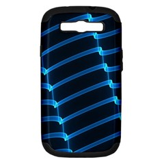 Background Light Glow Blue Samsung Galaxy S Iii Hardshell Case (pc+silicone) by Nexatart