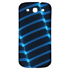 Background Light Glow Blue Samsung Galaxy S3 S Iii Classic Hardshell Back Case by Nexatart