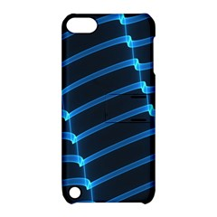 Background Light Glow Blue Apple Ipod Touch 5 Hardshell Case With Stand by Nexatart