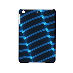 Background Light Glow Blue Ipad Mini 2 Hardshell Cases by Nexatart