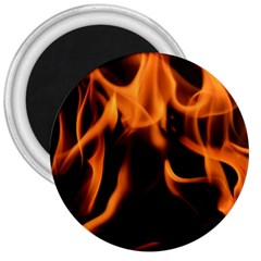 Fire Flame Heat Burn Hot 3  Magnets by Nexatart