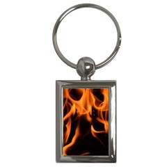 Fire Flame Heat Burn Hot Key Chains (rectangle)  by Nexatart