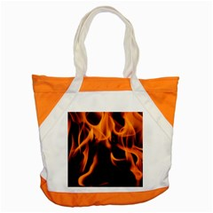 Fire Flame Heat Burn Hot Accent Tote Bag by Nexatart
