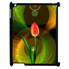 Tulip Flower Background Nebulous Apple Ipad 2 Case (black) by Nexatart