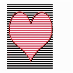 Heart Stripes Symbol Striped Small Garden Flag (two Sides) by Nexatart