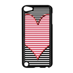 Heart Stripes Symbol Striped Apple Ipod Touch 5 Case (black) by Nexatart