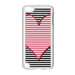 Heart Stripes Symbol Striped Apple Ipod Touch 5 Case (white) by Nexatart