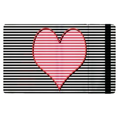 Heart Stripes Symbol Striped Apple Ipad Pro 9 7   Flip Case by Nexatart