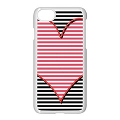 Heart Stripes Symbol Striped Apple Iphone 7 Seamless Case (white) by Nexatart