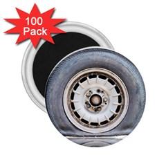 Flat Tire Vehicle Wear Street 2 25  Magnets (100 Pack)  by Nexatart
