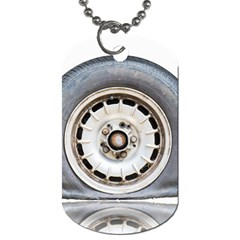 Flat Tire Vehicle Wear Street Dog Tag (two Sides) by Nexatart
