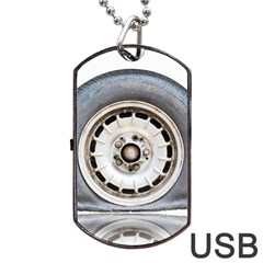 Flat Tire Vehicle Wear Street Dog Tag Usb Flash (two Sides) by Nexatart