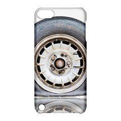 Flat Tire Vehicle Wear Street Apple Ipod Touch 5 Hardshell Case With Stand by Nexatart