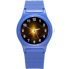 Background Christmas Star Advent Round Plastic Sport Watch (s) by Nexatart