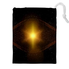 Background Christmas Star Advent Drawstring Pouches (xxl) by Nexatart