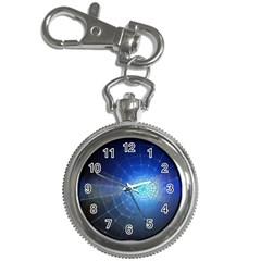 Network Cobweb Networking Bill Key Chain Watches by Nexatart