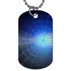 Network Cobweb Networking Bill Dog Tag (one Side) by Nexatart
