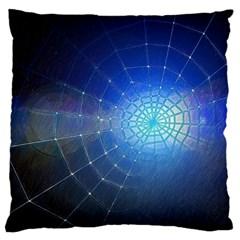 Network Cobweb Networking Bill Large Cushion Case (two Sides) by Nexatart