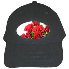 A Bouquet Of Roses On A White Background Black Cap by Nexatart