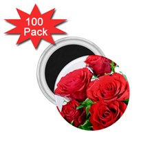 A Bouquet Of Roses On A White Background 1 75  Magnets (100 Pack)  by Nexatart