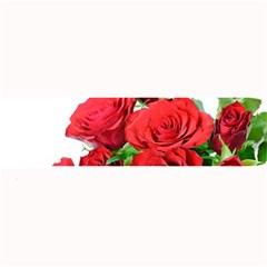 A Bouquet Of Roses On A White Background Large Bar Mats by Nexatart