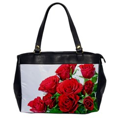 A Bouquet Of Roses On A White Background Office Handbags by Nexatart