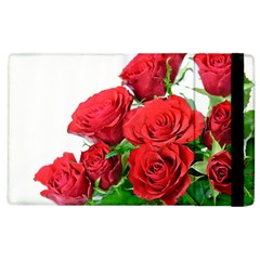 A Bouquet Of Roses On A White Background Apple Ipad 2 Flip Case by Nexatart