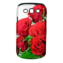 A Bouquet Of Roses On A White Background Samsung Galaxy S Iii Classic Hardshell Case (pc+silicone) by Nexatart