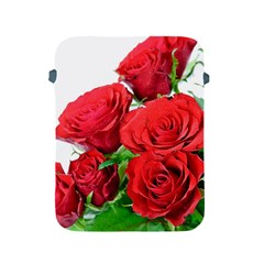 A Bouquet Of Roses On A White Background Apple Ipad 2/3/4 Protective Soft Cases by Nexatart