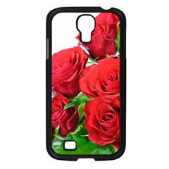 A Bouquet Of Roses On A White Background Samsung Galaxy S4 I9500/ I9505 Case (black) by Nexatart