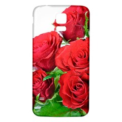 A Bouquet Of Roses On A White Background Samsung Galaxy S5 Back Case (white) by Nexatart