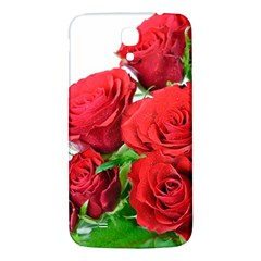 A Bouquet Of Roses On A White Background Samsung Galaxy Mega I9200 Hardshell Back Case by Nexatart