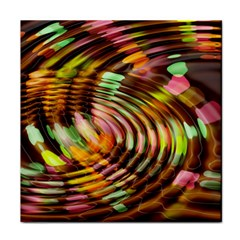 Wave Rings Circle Abstract Tile Coasters by Nexatart