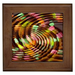 Wave Rings Circle Abstract Framed Tiles by Nexatart