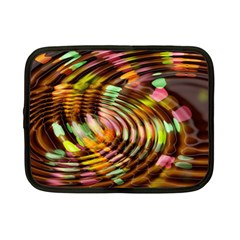 Wave Rings Circle Abstract Netbook Case (small)  by Nexatart