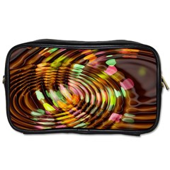 Wave Rings Circle Abstract Toiletries Bags 2 Side by Nexatart