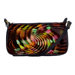Wave Rings Circle Abstract Shoulder Clutch Bags by Nexatart