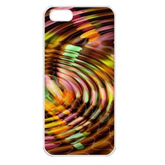 Wave Rings Circle Abstract Apple Iphone 5 Seamless Case (white) by Nexatart