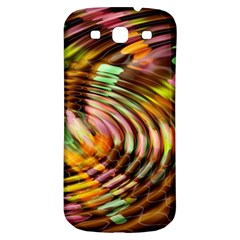 Wave Rings Circle Abstract Samsung Galaxy S3 S Iii Classic Hardshell Back Case by Nexatart