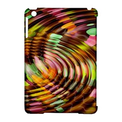 Wave Rings Circle Abstract Apple Ipad Mini Hardshell Case (compatible With Smart Cover) by Nexatart