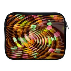Wave Rings Circle Abstract Apple Ipad 2/3/4 Zipper Cases by Nexatart