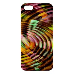 Wave Rings Circle Abstract Iphone 5s/ Se Premium Hardshell Case by Nexatart