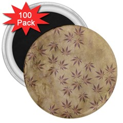 Parchment Paper Old Leaves Leaf 3  Magnets (100 Pack) by Nexatart
