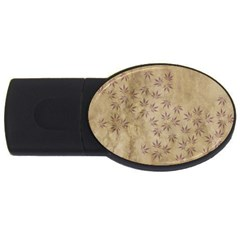 Parchment Paper Old Leaves Leaf Usb Flash Drive Oval (2 Gb) by Nexatart
