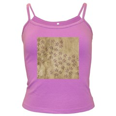 Parchment Paper Old Leaves Leaf Dark Spaghetti Tank by Nexatart