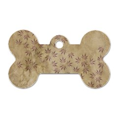 Parchment Paper Old Leaves Leaf Dog Tag Bone (one Side) by Nexatart